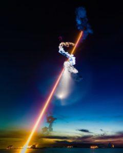 Запуск ракеты Starlink